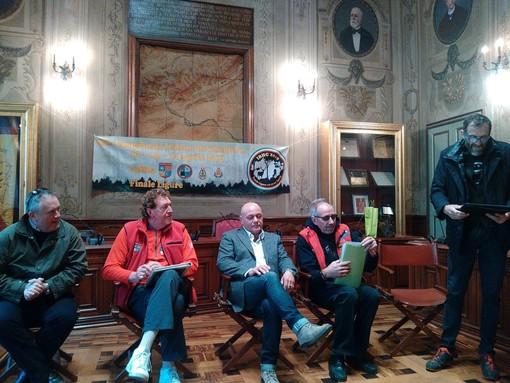 La presentazione dell'evento nella sala consiliare del Comune di Finale Ligure