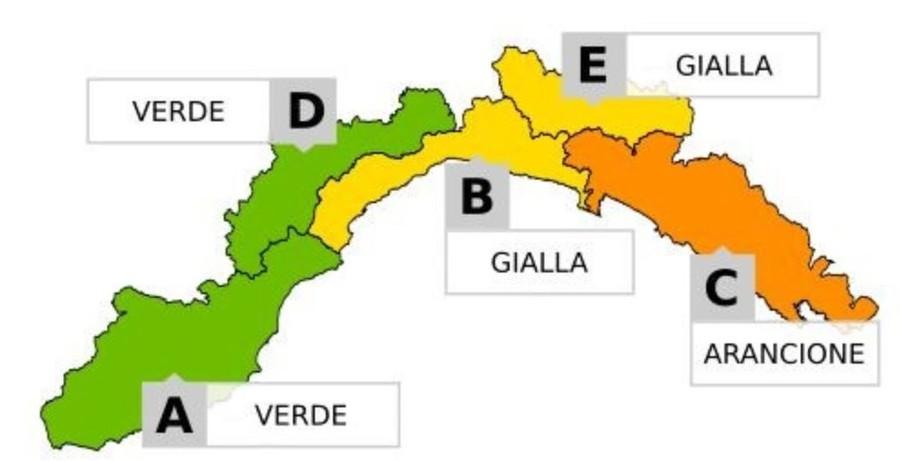 Allerta Meteo: domani allerta gialla sul levante savonese