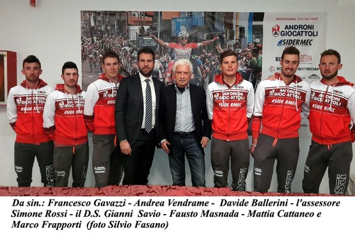 Ciclismo, Trofeo Laigueglia: l'Androni Giocattoli è già sbarcata in Liguria