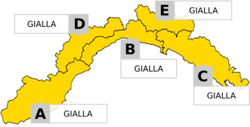 Meteo: emanata l'allerta gialla su tutta la regione per sabato 2 novembre