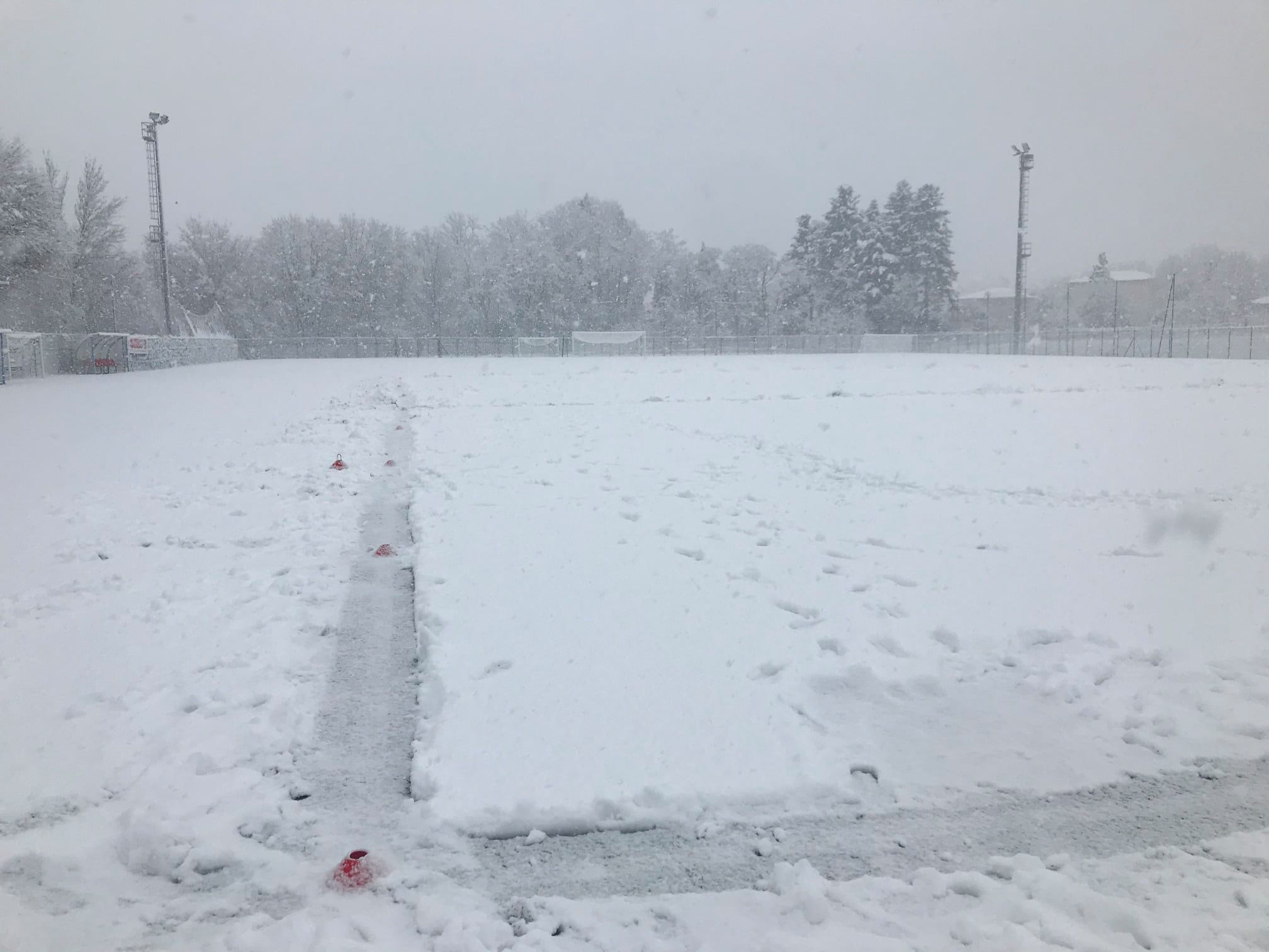 Varese e il Varese bloccati dalla neve: rinviato a mercoledì prossimo il match di Casale
