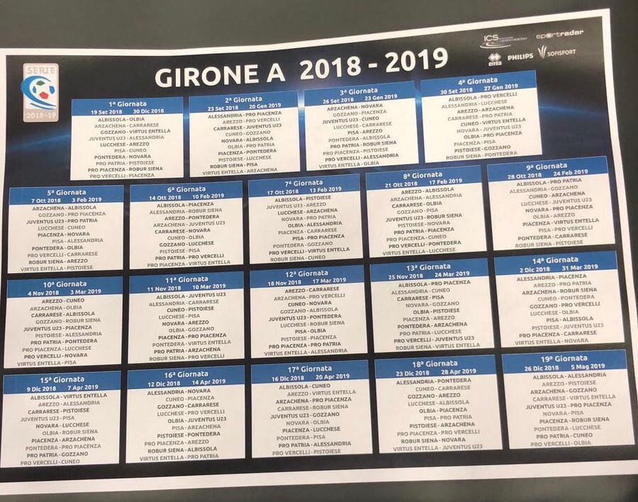 Calendario Serie A Ritorno.Calcio Serie C Via Ai Calendari Alla Scoperta Del Cammino