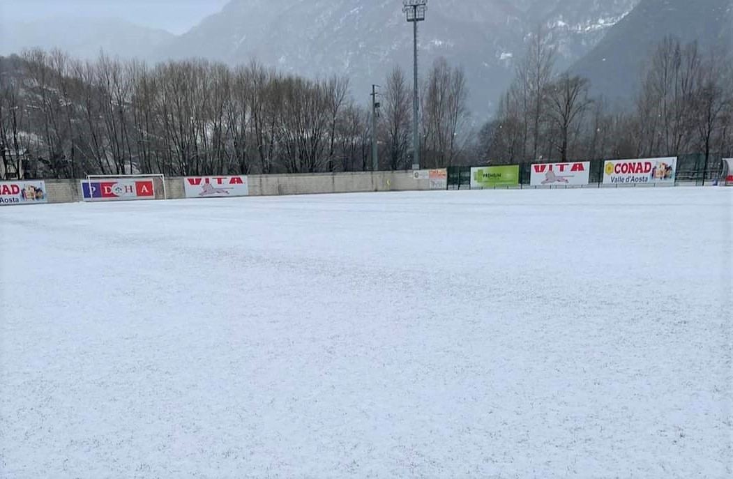 Calcio, Serie D. Neve in Val d'Aosta, rinviata Pont Donnaz - Fossano