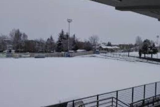 Calcio, La neve vince anche a Fossano, rinviata la partita con il Sestri Levante