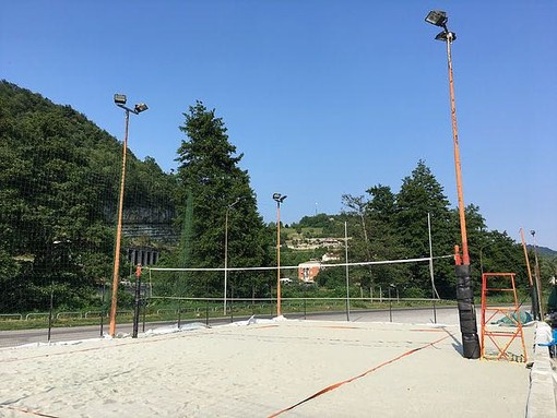 Il campo da beach volley di Cengio