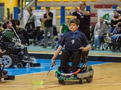 Esordio con il botto per Davide Sciuva: il giovane cairese subito in rete con la nuova 'sport wheelchair'