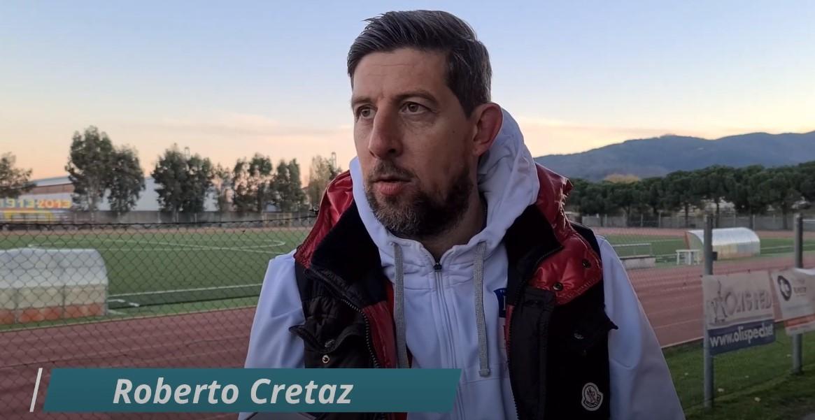 """Calcio, Pont Donnaz. Mister Cretaz non parla della partita con il Vado: """"Non ne ho voglia. Felice di ricambiare la fiducia del club"""" (VIDEO)"""