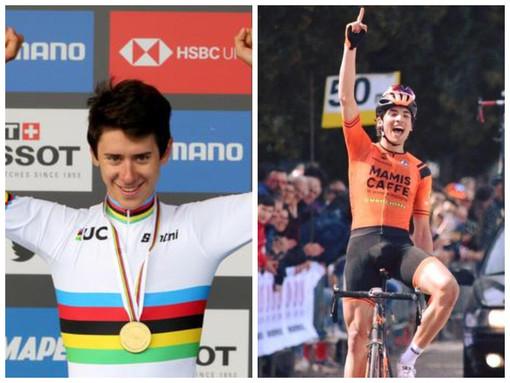Tutti con Samuele Manfredi: Antonio Tiberi vince la medaglia d'oro mondiale a cronometro junior e dedica il successo al ciclista loanese