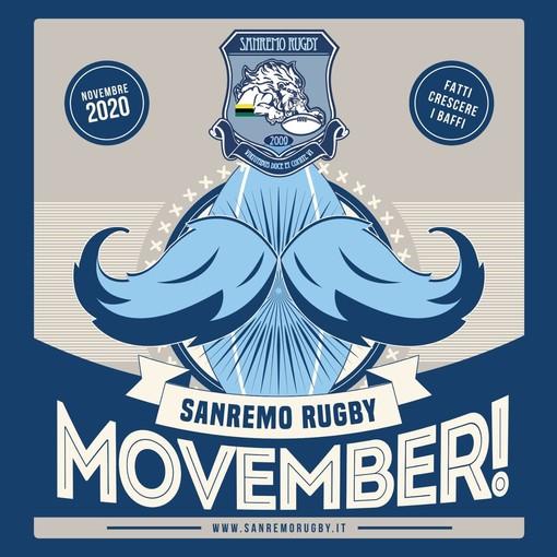 """Il Sanremo Rugby aderisce all'iniziativa """"Movember"""": fratelli di baffo per la ricerca sul cancro alla prostata"""