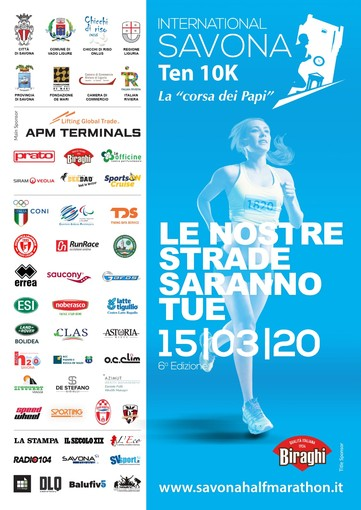 """Le strade saranno tue"": manca poco alla partenza della Savona Half Marathon"