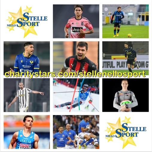 Stelle nello Sport: ultima asta 2020/2021 con i campioni della serie A, Sibello, Tortu, Brignone e l'ItalRugby