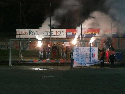 Foto tratta dalla pagina Facebook Ultras Rocchettese - Roman Bridge Warriors