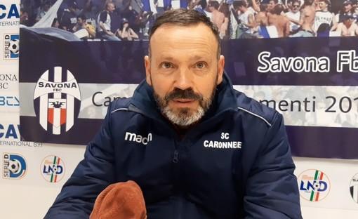 """Calcio. Serie D, la Caronnese rallenta il cammino al """"Bacigalupo"""". Mister Gatti: """"Non abbiamo sottovalutato l'avversario, bravo il Savona ad adattarsi meglio al contesto"""" (VIDEO)"""