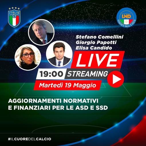 Calcio dilettantistico: aggiornamenti normativi e finanziari per le Asd, anche su Svsport.it,  la diretta del Comitato Regionale del Piemonte