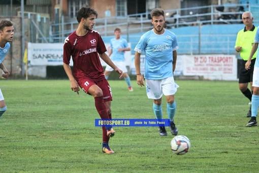 Alfonso Rea è l'autore della rete per il Ventimiglia contro l'Alassio FC