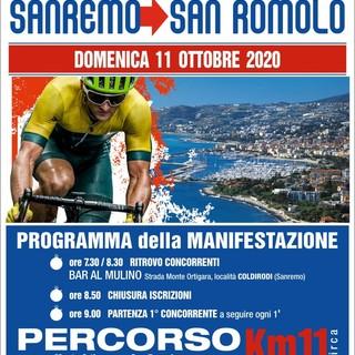 Ciclismo. Domenica 11 ottobre la cronoscalata Sanremo - San Romolo