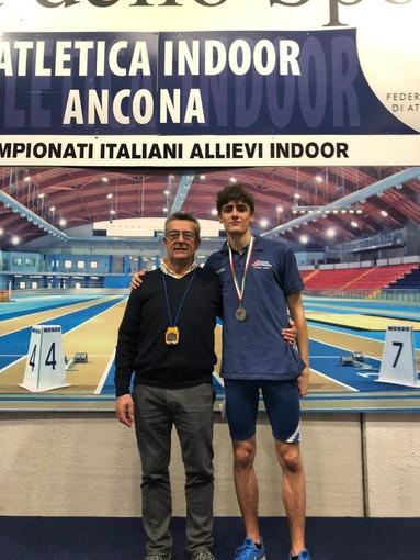 Atletica Arcobaleno: doppio argento ai campionati italiani indoor, sul podio Anabel Vitale e Marco Zunino