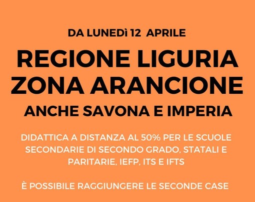 Da lunedì Imperia e Savona tornano in arancione: la conferma dalla conferenza Regione-Comuni