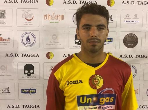 Luca Crespi con la maglia giallorossa del Taggia