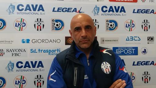 """Calcio. Savona a bocca asciutta contro la Folgore Caratese. Casazza: """"I ragazzi hanno provato a ribattere colpo su colpo, peccato per l'episodio dell'autogol"""" (VIDEO)"""