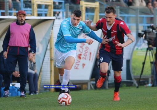 La Sanremese in scena al 'Comunale' contro la Folgore Caratese, nella semifinale di andata della Coppa Italia di Serie D