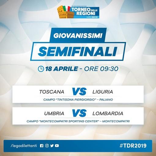 Calcio, Torneo delle Regioni. Giovanissimi: Toscana-Liguria e Umbria-Lombardia le semifinali