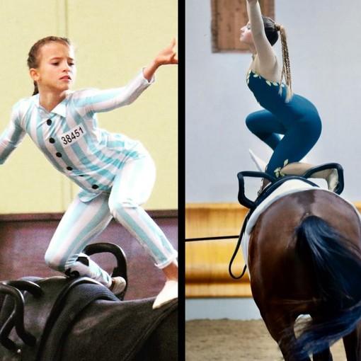Volteggio equestre, Francesca Costantino e Vittoria De Sciora protagoniste ai campionati italiani di Ornago