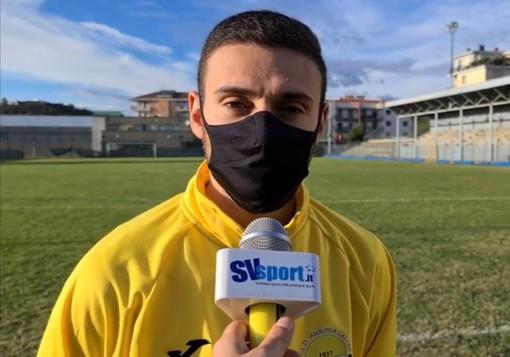 """Calcio. Aurora, Gaetano Laudando a segno contro l'Olimpia Carcarese: """"Contento per il gol, ma potevamo portarla a casa"""" (VIDEO)"""