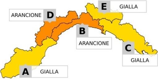 Maltempo: torna l'allerta arancione su levante savonese, Valbormida e genovesato