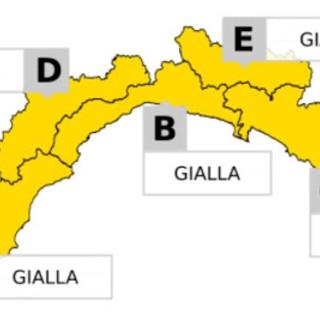 Nuova allerta gialla per temporali dalle 20 di stasera su tutta la Liguria