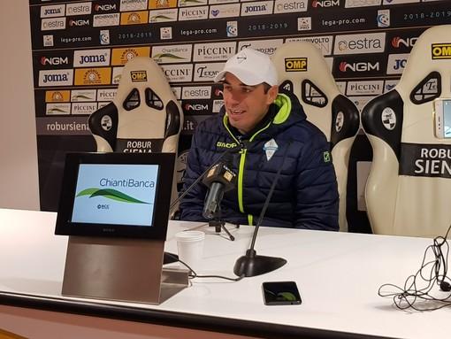 """Calcio. Albissola, una sconfitta troppo pesante per mister Bellucci: """"Il Siena ha sofferto per vincere"""""""