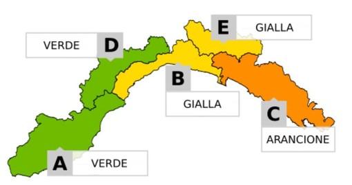 Allerta Meteo: livello giallo sul levante savonese e genovesato, arancione nello spezzino