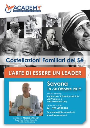 Costellazioni Familiari del Sè: il 18-19-20 ottobre un seminario organizzato dall'Accademia del Counseling di Savona