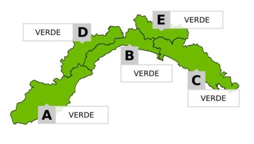 Nessun livello di allerta fino alla mattinata di domani in Liguria