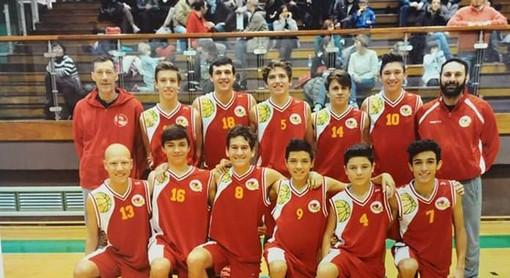 """I """"ragazzi del '99"""" del Loano Basket si congedano da Emanuela Agnolet"""