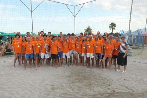 Loano: Simone Ferrari, Stefano Percivati, Gabriele Borsato e Mattia Boretti vincono il torneo di beach- volley nel ricordo di Edoardo Beccuti e Uberto Maldini (FOTO)