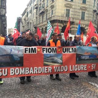 Vertenza Bombardier Vado Ligure: giovedì 16 luglio tre ore di sciopero con presidio