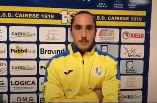 """Calcio, Cairese. Umore agrodolce per Alessandro Durante. Prova ok ma... """"Peccato per non aver conquistato i tre punti"""" (VIDEO)"""