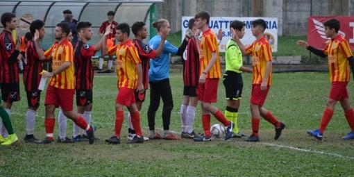 Le Juniores di Atletico Argentina e Celle Ligure in campo (foto tratta dal sito ufficiale dell'ASD Atletico Argentina)