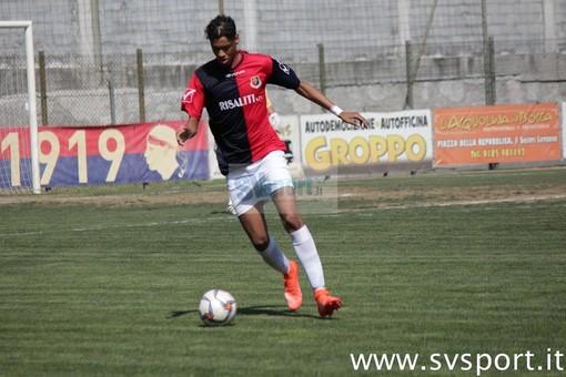 Serra Sanchez con la maglia del Sestri Levante