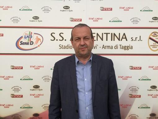 """Calcio, Alassio FC. I programmi di Stefano Ragazzoni. """"Linea verde e campionato tranquillo. E non è detto che la mia amica Patrizia Testa non possa darci una mano..."""""""
