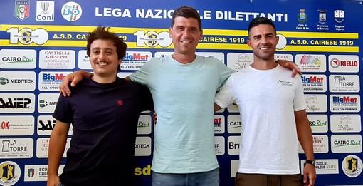 Calcio, Cairese. Ufficiali Alessi e Bresci nello staff tecnico, Michele Battistel nuovo match analyst