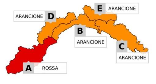 Forti piogge in arrivo, innalzato a ROSSO il livello di allerta dalle 3 di stanotte alle 14 di domani. Via libera per il derby di Coppa tra Sanremese e Savona
