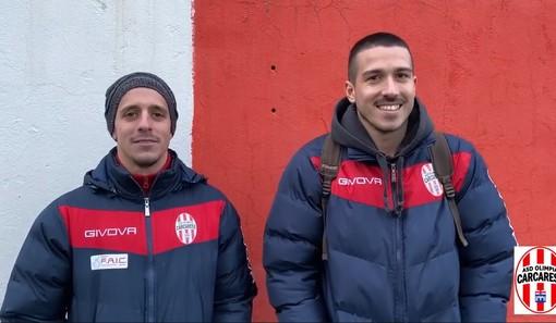 Calcio. L'Olimpia Carcarese ora è seconda. Clemente e Spozio raccontano la vittoria sulla Baia Alassio (VIDEO)
