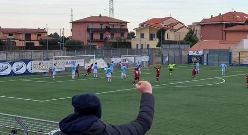Calcio, Pontelungo. Pochi gol ma ben spesi, i granata confermano il primato con la rete di Caneva all'Andora (VIDEO)