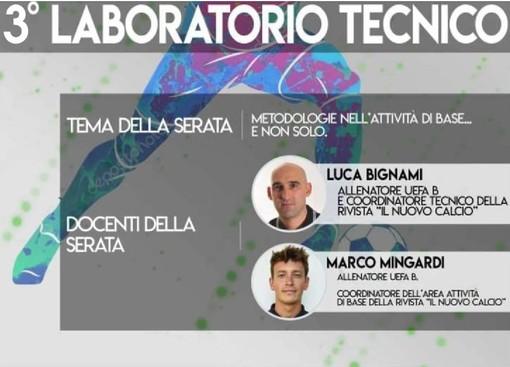 """Calcio, Cairese. Lunedì la terza serata del """"Laboratorio Tecnico"""" con i tecnici Luca Bignami e Marco Mingardi"""
