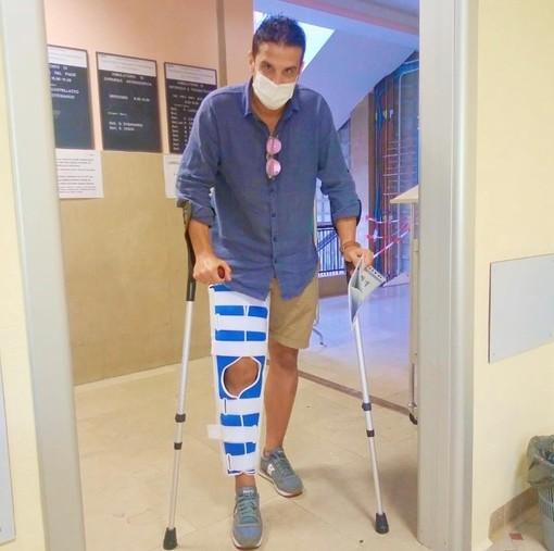 Calcio, Andora. Infortunio al ginocchio e tutore per Giovanni Mela. Lunedì la risonanza