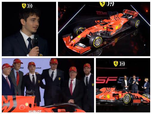 Formula 1. Tolto il velo alla nuova Ferrari, la prima da pilota ufficiale del monegasco Charles Leclerc
