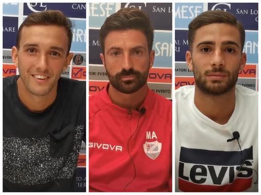 """Calcio, Sanremese. Mister Andreoletti tiene alta la concentrazione:"""" Stiamo crescendo ma ci è mancata un po' di qualità"""". Parola anche a Orefice e Valagussa (VIDEO)"""