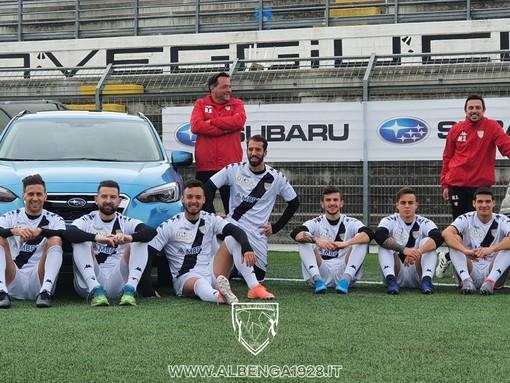 Calcio, Albenga. Le auto Subaru arrivano all'Annibale Riva, nuova partnership per il club ingauno (FOTO)